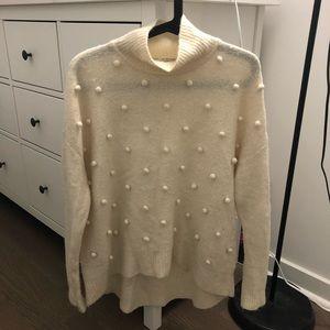 Madewell turtleneck pompom dot sweater